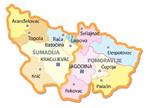 Opštine u regionu Šumadije i Pomoravlja/Municipalities of Šumadija and Pomoravlje Region