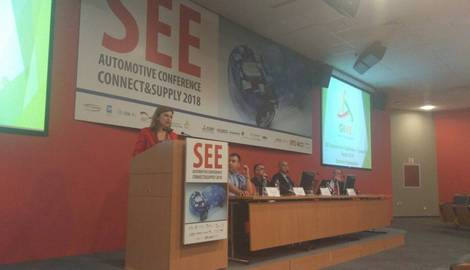 """Presentation of the InnoHPC project - High Performance Computers for Efficient Innovation in the Danube Region held at the conference """"SEE Automotive Conference 2018"""" in Novi Sad"""
